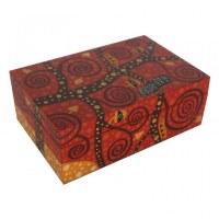 Boîte rectangulaire artistique thème ROUGE 20x13 cm