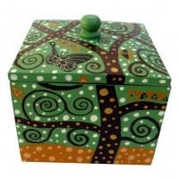 Boîte carrée artistique thème VERT