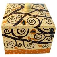 Boîte carrée et couvercle 14x14x13,5 cm