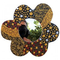 Miroir bromo fleur PM
