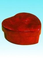 Boite forme de coeur capiz GM 11.5 cm diagonale