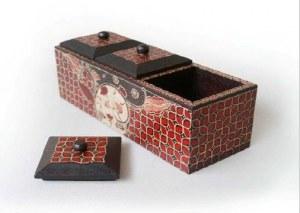 boîte à thé ou bijoux 3 compartiments
