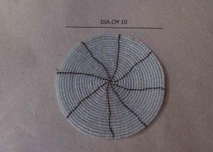 Dessous de verre en perles argentées 10 cm