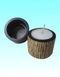 Rond de serviette ou bougeoir coco blanc