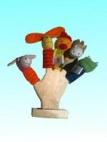 Lot marionnettes à doigts (2662)+ main en albizia(2844)
