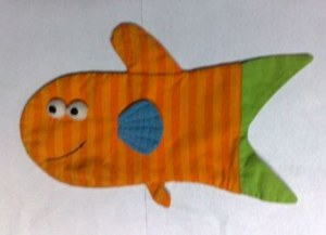 OVEN GLOVE WITH FISH DESIGN 24 x20 cm
