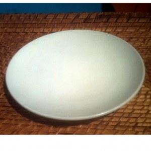 Assiette céramique blanc cassé D 19cm
