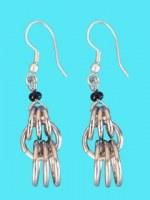 Boucles d'oreilles anneaux entrelacés