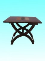 Table pliante motifs 3 bandes
