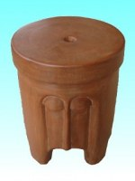Tabouret masque naturel