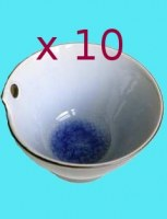 Lot de 10 Bol à nouilles céramique bleu GM