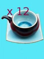 lot de 12 tasses turquoise