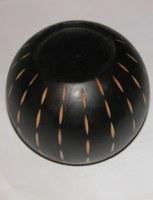 Bougeoir boule en bois PM 11x 6 cm