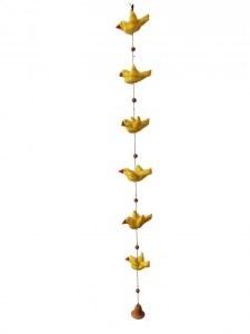 Mobile oiseaux coton