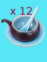 Lot de tasses à café turquoise