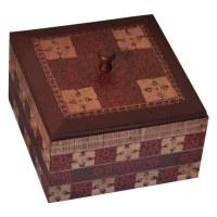 Boîte à thé carrée 4 compartiments