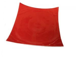 plateau carré céramique rouge 30cm