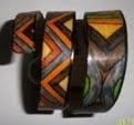bracelet cuir spirale ton orangé